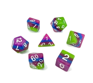 4 layer multicolor dice 4/6/8/10/10s/12/20 - 7 Dice