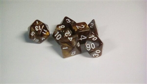 Blend PRG dice set (Gold+silver) Dice Set 4/6/8/10/10s/12/20 - 7 Dice