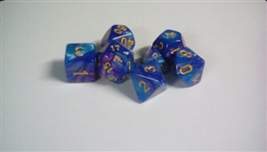 Blue+purple dice set Dice Set 4/6/8/10/10s/12/20 - 7 Dice