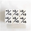+ Counter dice (set of 5)  (pictured 6 showing all sides)