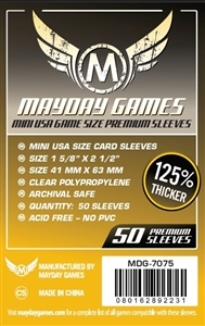 Premium Mini USA Game Size Sleeves 41 X 63 MM (50 Pack) (Yellow)