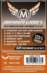 Premium USA Chimera Game Sleeves 57.5 X 89 MM (50 pack)(Orange)