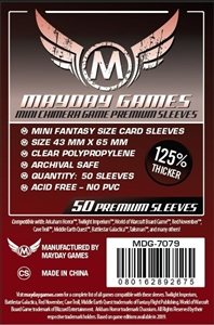 Premium Mini Chimera Game Sleeves 43 X 65 MM (50 Pack) (Dark Red)