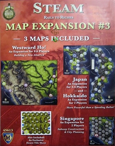 Steam: Map Expansion #3 - Westward Ho!, Japan, Hokkaido, & Singapore