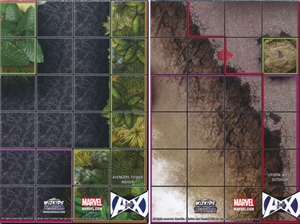 Avengers Tower Indoor / Utopia West Outdoor Map Marvel Avengers vs X-Men
