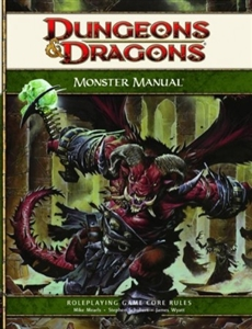 Monster Manual hardcover core rulebook (D&D 4th Edition RPG)