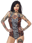 Sourpuss Jungle Princess one-piece swim suit