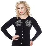 Sourpuss Fuck This Cardigan black