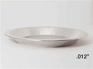 "10"" Shallow Depth Heavy Aluminum Pie Pans"