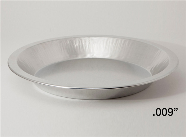 "9"" Medium Depth Light Aluminum Pie Pans"