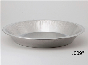 "9"" Deep Light Aluminum Pie Pans"