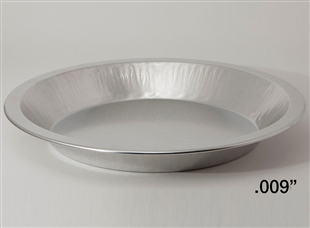 "10"" Deep Light Aluminum Pie Pans"