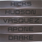 ALIENS FILM CHARACTER USCM Nametapes