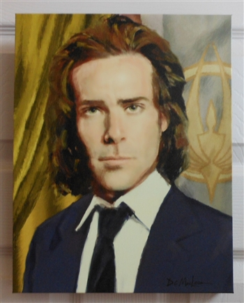 "LARGE Canvas Print of the Portrait of President Gaius Baltar 16"" x 20"" x 1"""