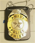 Jaws Metal Amity Police Chief Badge