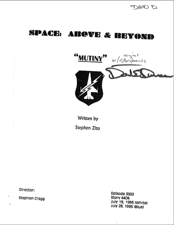 Screenplay: Space: Above And Beyond - Episode 3 - Second Draft