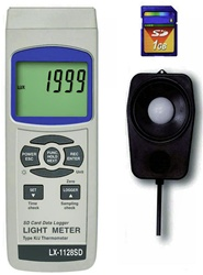 LX-1128-SD-CC / Light Meter Data Logger Stores All Recorded Data Conveniently in SD Card - Includes Calibration Cert.
