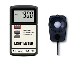 LX-113S-CC / Selectable Lux & Ft-cd Meter with Calibration Certificate