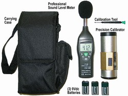 SLM ProKit-1000-CC / Professional Sound Meter Kit. With Calibration Certificate