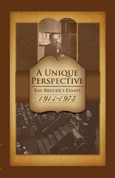 A Unique Perspective: Rav Breuer's Essays 1914-1973