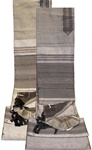 Gabrielli Contemporary Grey Silk Tallit Set