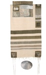 Yair Emanuel Raw Silk Tallit with Stripes