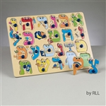 Wooden Alef Bet Puzzle( 22 pieces)