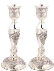 Grape Leaf Design Candlesticks