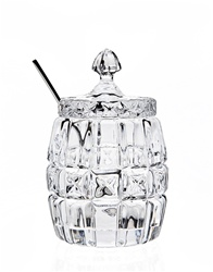 Crystal Honey Pot with Spoon