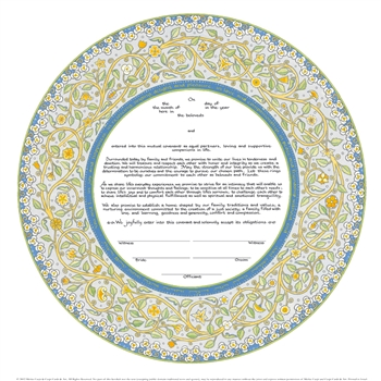 Joy & Happiness Ketubah  by  Micki Caspi
