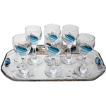 Glass Cordial Set with Tray