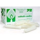 Box of 72 Standard Shabbat Candles