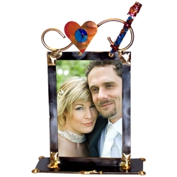 Copper Heart Wedding Frame with Shards by Gary Rosenthal