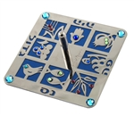 Seven Species Square Dreidel by Anat Mayer