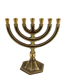 Small Seven Branch Brass Menorah