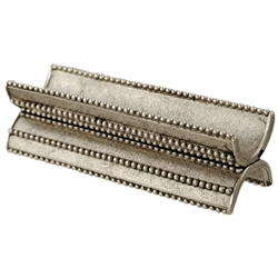 Beaded Yad Holder - Silver