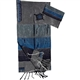 Gabrieli Grey with Blues Silk Tallit Set
