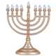 Gold LED Battery Menorah