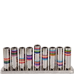 Hammered Multicolor Ring Menorah by Emanuel