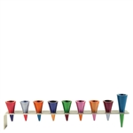 Multicolor Cone Menorah by Emanuel