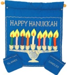 Happy Hanukkah Wall Hanging