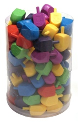 Bulk Plastic Dreidels (100 to a package)