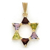 Star of David Pendant with Jewels