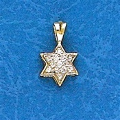 Star of David Pendant with Diamonds