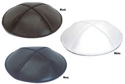 Leather Kippot with Custom Imprinting