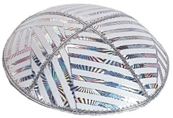 Bulk Leather Foil Embossed Kippot (FL109) - With Custom Imprinting