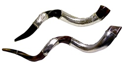 Sterling-Wrapped Yemenite Shofar