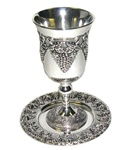 Kiddush Cup with Plate