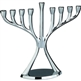 Chrome Plated Aluminum Modern Menorah