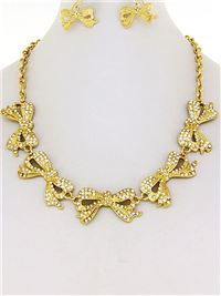Necklace Set - gold/ clear